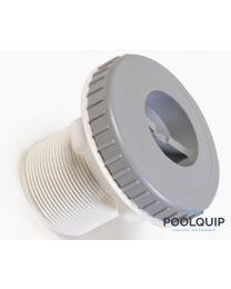 """BWT stofzuigfitting liner met 2"""" schroefdraad of 50 mm grijs"""