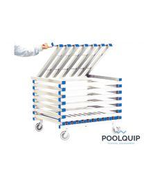Poolquip kunststof trolley incl. deksel,