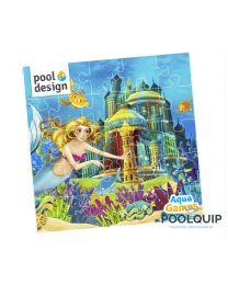 Aquagames Puzzle 'Kasteel' 9-delig 300 x 300 mm