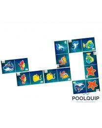 Aquagames Dominospel 7-delig 500 x 250 mm