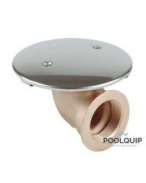 Allfit Bodemput Brons/Rvs Met 90° Zijaansluiting