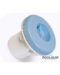 """BWT stofzuigfitting liner met 2"""" schroefdraad of 50 mm lichtblauw"""