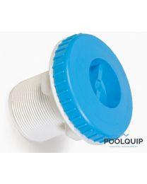 """BWT stofzuigfitting liner met 2"""" schroefdraad of 50 mm frans blauw"""