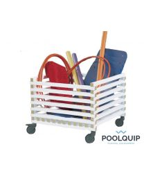 Poolquip kunststof trolley, 750 x 600 x 1200 mm
