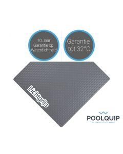Ocean folie Deluxe antislip Lichtgrijs 1,65 meter